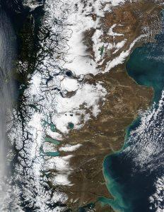 Imagen Satelital de La Patagonia